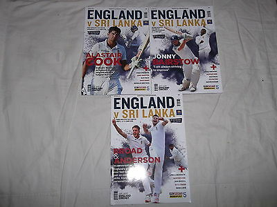 England V Sri Lanka Entire Programme Collection 2016 All 3 Test Matches *mint*
