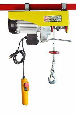 SDT 2200 LBS Electric Wire Cable Hoist Remote Garage Shop Overhead Crane Lift