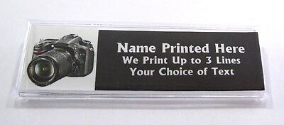 Camera Custom Name Tag Badge ID Pin Magnet for Photographers Photography Photos