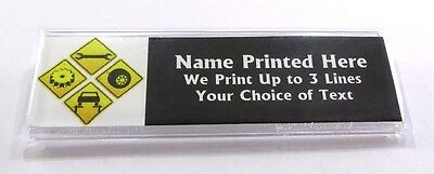 Mechanic Sign Custom Name Tag Badge ID Pin Magnet for Automotive Car Tech Repair