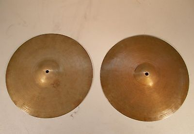 "K ZILDJIAN ISTANBUL 14"" New Old Stamp MATCHED Hi Hats 840/850g *SOUNDFILE* $DROP"