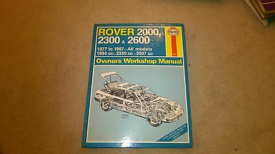 Haynes Owners Workshop Manual Rover Sd1 2000 2300 2600 1977 To 1987 Number 468