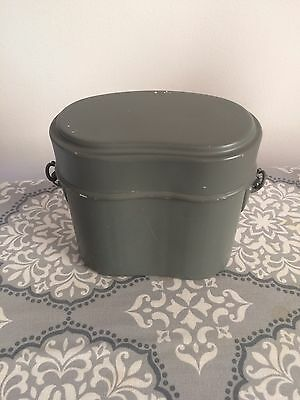 Vintage Aluminum Storage Food Container Military Mess Kit