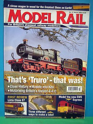 MODEL RAIL No.41 MARCH 2002 # TRURO 4-4-0 ~ On16.5 N/G ~ CIRCUS ~ DCC   SEE PICS