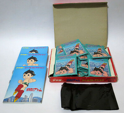 Vintage Mighty Atom Stickers + Prizes Complete Unused Box Japan 1970s Astro Boy