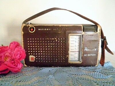 Vintage Transistor Radio National Panasonic 8 R-205Jb Japan In Case Portable