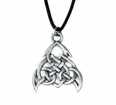 Celtic Tribal Knot Pewter Loyalty Amulet Pendant Necklace Courtney Davis CD02