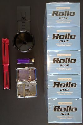 BEST START KIT: 1000 ROLLO Tobacco Tubes FREE Injector, Tray, Lighter & Case!