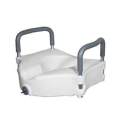 Drive Medical Elevated Raised Toilet Seat with Removable Padded Arms, Standard S