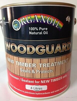 Organoil Woodguard Exterior Oil  Timber protector 4 litre DENTED CAN
