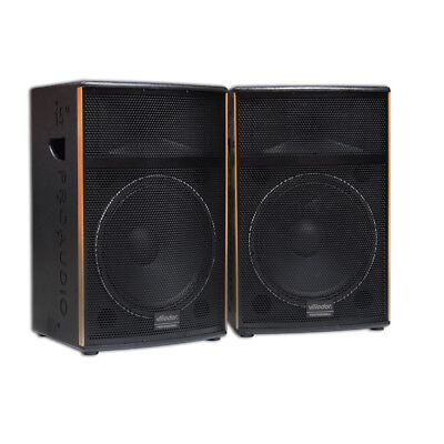 "Pair 15"" 900W Brand New Karaoke Dj Music Speakers Home Theatre Stage Hall"