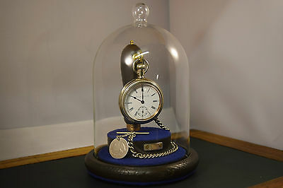 Antique Hamilton Swing Star case Pocket Watch Serviced  with chain & Stand