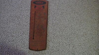 Vintage united farm agency metal  Thermometer  Sign