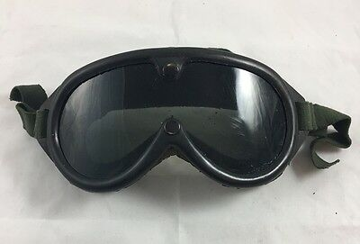 Vintage military Goggles Sun Wind Dust Vented 1974