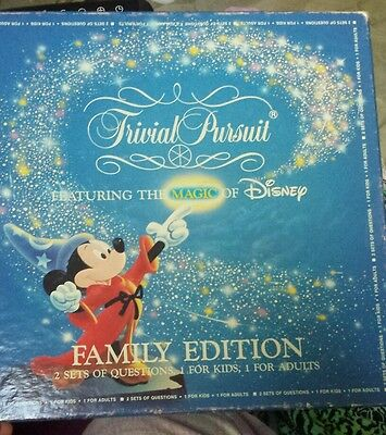 Disney Trivial Pursuit Master Game 1986 Family Edition