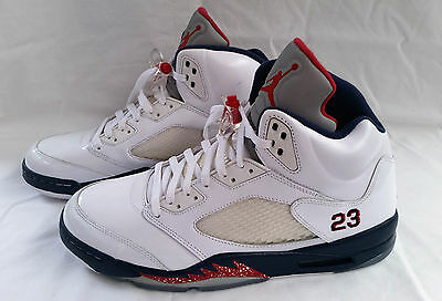 NIKE AIR JORDAN 2011 Retro OLYMPIC INDEPENDENCE DAY WHITE BLUE RED - SIZE 11