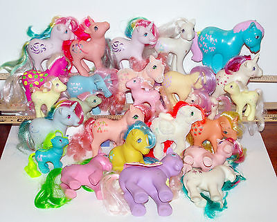 Vintage My Little Pony G1 mixed lot 24 ponies + Rare Bowtie Coin Bank