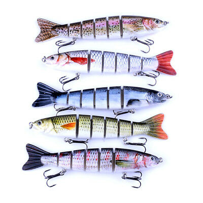 1PC Multi Jointed Fishing Lures Bait Swimbait Life-like 6 Section Sinking Tackle