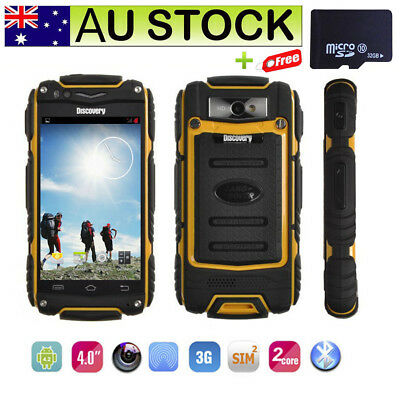 "Unlocked Smartphone 3G WCDMA Rugged Mobile Phone 4"" GPS WiFi Discovery V8 + 32G"