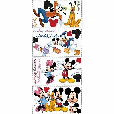 Disney Mickey Mouse Peel & Stick Removable Wall Decals Kids Bedroom Home Decor