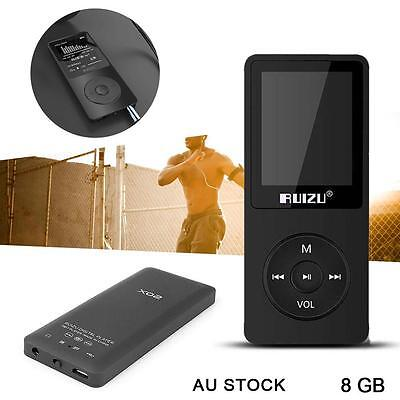AU Stock 8G LCD MP3 MP4 Lossless Music Video Media Player Radio Support TF #A GL