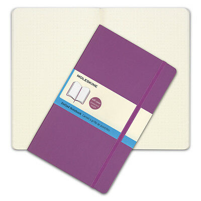 NEW Moleskine Classic Soft Cover Large Dotted Notebook Orchid