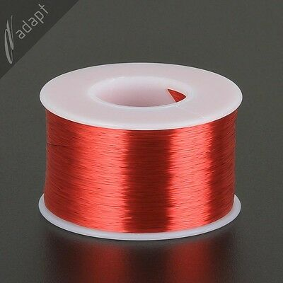 35 AWG Gauge Magnet Wire Red 5000' 155C Solderable Enameled Copper Coil Winding
