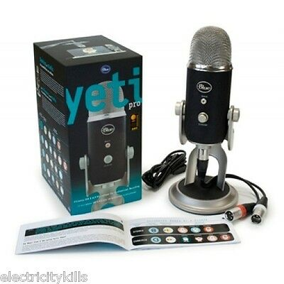 BRAND NEW! Blue YETI PRO Condenser Wired & USB Professional Microphone Mic Mike