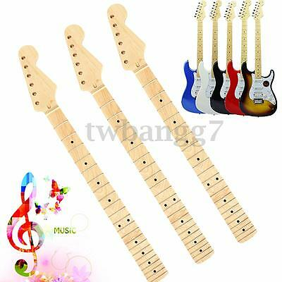 Replacement Maple Neck Fingerboard Dot 22 Fret For ST Electric Guitar AU STOCK
