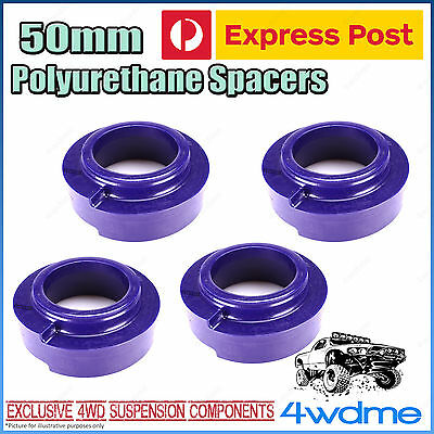 Toyota Landcruiser 80 Series Front & Rear 50mm Coil Spring Polyurethane Spacers