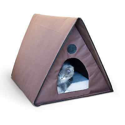 NEW New K&H Manufacturing Outdoor Kitty A-Frame Cat House Cat Pet GIFT