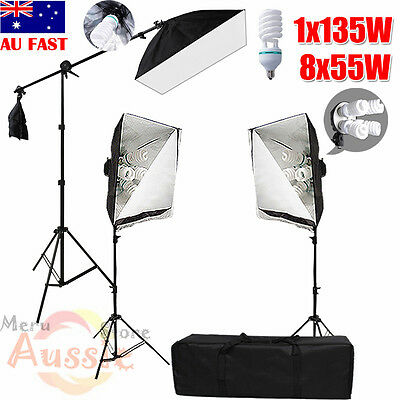 2875W Photo Studio Softbox Continuous Lighting Video Soft Box Boom Light Stand