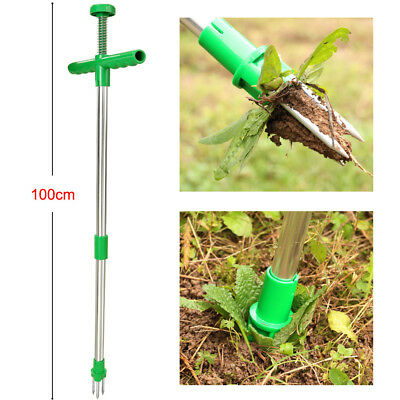 Garden Lawn Weed Puller Weeder Remover Killer Lightweight Long Tool Twist & Pull