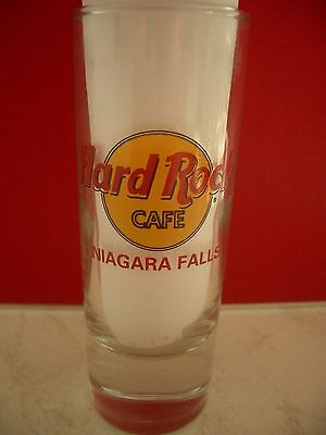 HRC Hard Rock Cafe Niagara Falls Classic Logo Red Letter Shot Glass Schnapsglas