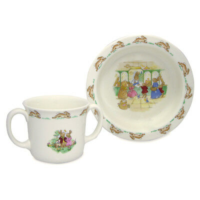 NEW Royal Doulton Bunnykins Nursery Baby Set 2pce