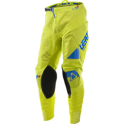 NEW Leatt 2017 Mx Gear GPX 4.5 FLO Lime Yellow Blue Dirt Bike Motocross Pants