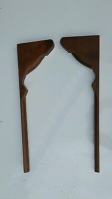 Two Antique Corbels Architectural Salvage Accent Pieces