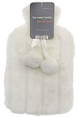Hot water bottle WITH FAUX FUR COVER VARIOUS COLOURS