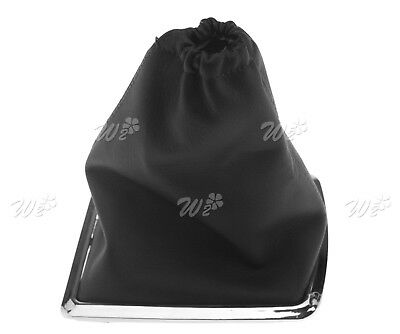 Black Shift Knob Gear Lever Cover Boot Gaiter PU For Ford Focus 05-10