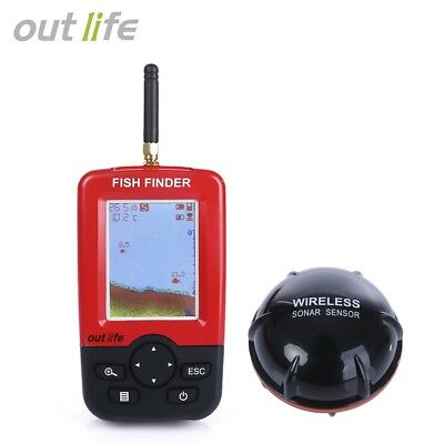 Outlife Smart Portable Fish Finder with Wireless Sonar Sensor for  Fishing
