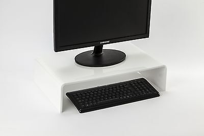 Monitor Stand Perspex Plinth New Durable Acrylic Computer Screen Riser