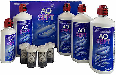 AOSept Plus 4x360ml Peroxyd Pflegemittel Vorrat + 1x90ml gratis (100ml=3,40€)