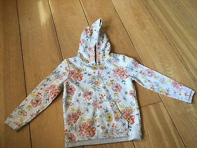 Girls Natural Colour Floral Hoodie George 4-5 Years
