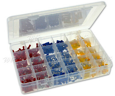 480x Electrical Wire Terminals Assortment Set Insulated Crimp Connectors Spade