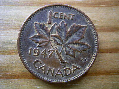1947 Canada 1 cent coin collectable