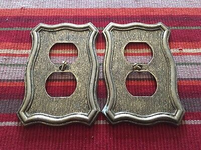 American Tack & HDWE Hardware Co Vintage Outlet Cover Socket Plate 1968 Lot Of 2