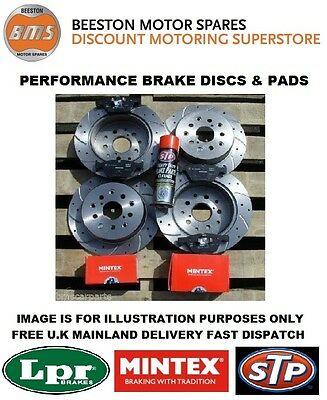 VAUXHALL INSIGNIA 2.0 CDTi FRONT AND REAR DRILLED & GROOVED DISCS & MINTEX PADS