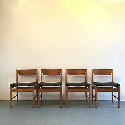 VINTAGE DINING CHAIRS X 4 1960s DANISH INFLUENCE RETRO