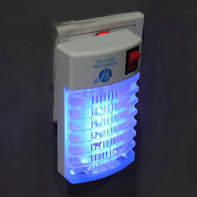 LED Socket Electric Mosquito Fly Bug Insect Trap Night Lamp Killer Zapper DE