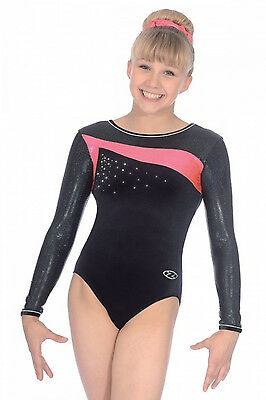 The Zone Icon Jewel Long Sleeve Velour Gymnastics Leotard  Free Postage • EUR 40,47